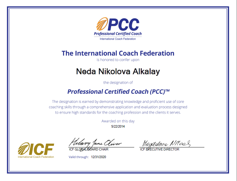 Neda Alkalay PCC Professional Certified Coach