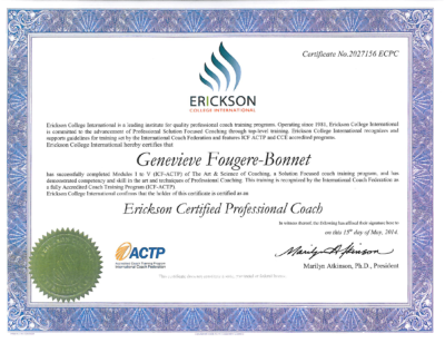 Genevieve Fougere Erickson Certified Professional Coach