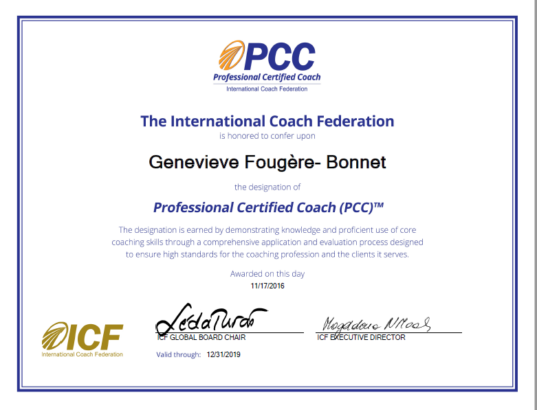 Genevieve Fougere PCC Professional Certified Coach